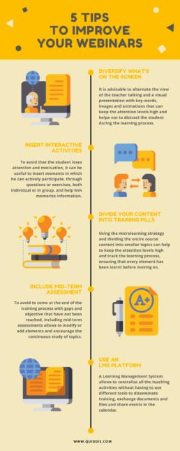 infographic 5 tips webinar elearning